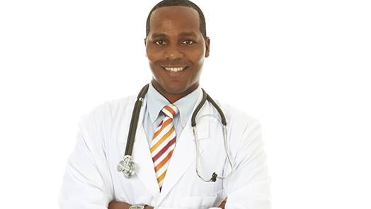 Young African-American doctor